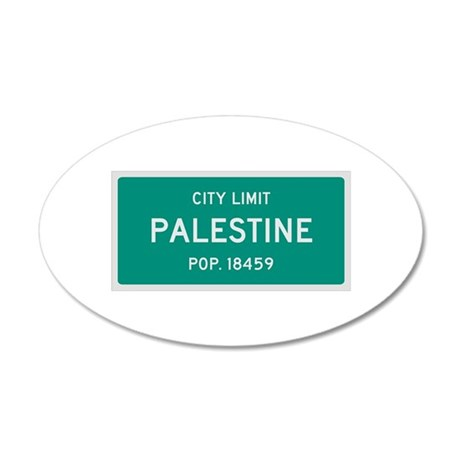 Palestine, Texas City Limits Wall Decal