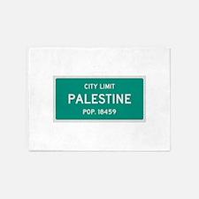 Palestine, Texas City Limits 5'x7'Area Rug