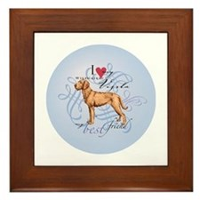 Unique Wirehaired vizsla Framed Tile