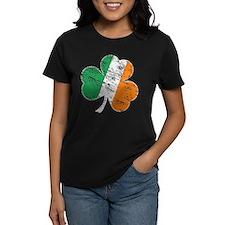 Vintage Distressed Irish Flag Shamrock T-Shirt