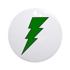 The Green Lightning Shop Ornament (Round)