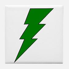 The Green Lightning Shop Tile Coaster