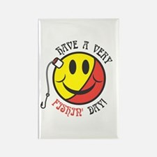 Have a Very Fishin' Day Smiley Rectangle Magnet