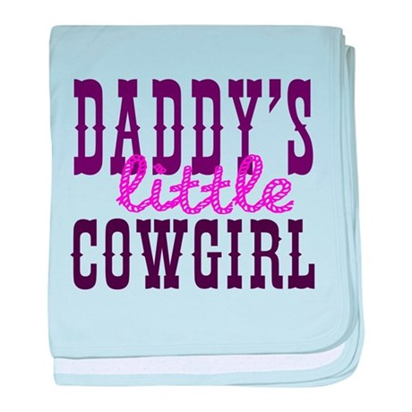 Daddy's Little Cowgirl baby blanket