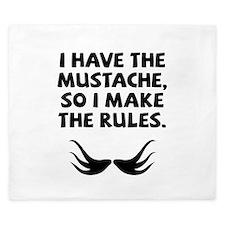 Mustache Rules King Duvet