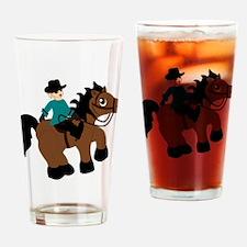 Horseback Riding Drinking Glass