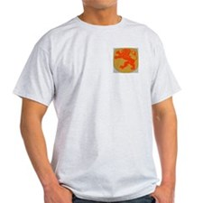 Lion Rampart On Shield Ash Grey T-Shirt