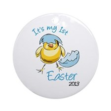 It's My First Easter '13 Ornament (Round)