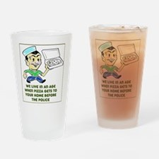 Pizza Police Drinking Glass