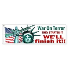 Finish It! Bumper Bumper Sticker