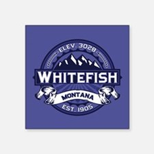 "Whitefish Logo Midnight Square Sticker 3"" x 3"""