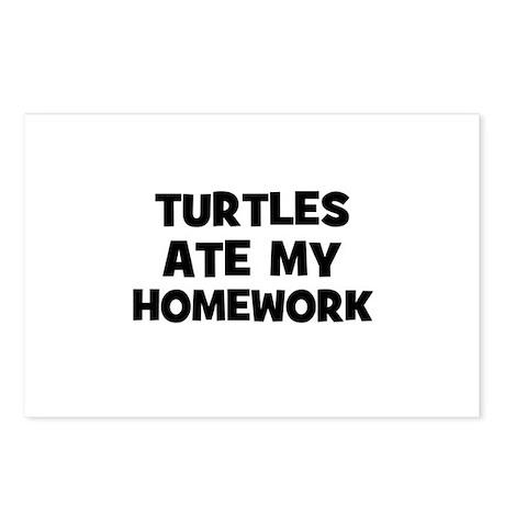 Turtles Ate My Homework Postcards (Package of 8)