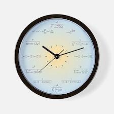 Cute Math equation trigonometry machin integrals sum Wall Clock