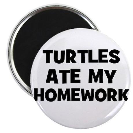 """Turtles Ate My Homework 2.25"""" Magnet (10 pack)"""