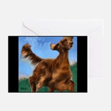 Irish Setter Art Greeting Cards (Pk of 10)
