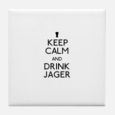 KEEP CALM AND DRINK JAGER Tile Coaster