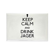 KEEP CALM AND DRINK JAGER Rectangle Magnet