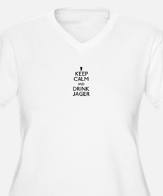 KEEP CALM AND DRINK JAGER Plus Size T-Shirt