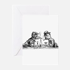 Cigar Smoking Bulldogs Greeting Cards (Package of
