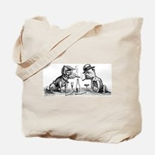 Cigar Smoking Bulldogs Tote Bag
