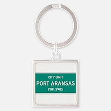 Port Aransas, Texas City Limits Square Keychain