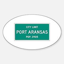 Port Aransas, Texas City Limits Decal