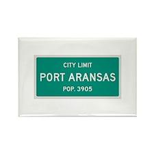 Port Aransas, Texas City Limits Rectangle Magnet