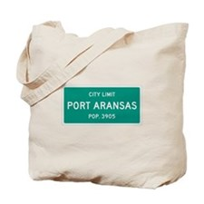 Port Aransas, Texas City Limits Tote Bag