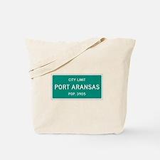Port Aransas, Texas City Limits Tote Bag
