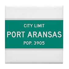 Port Aransas, Texas City Limits Tile Coaster