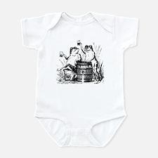 Beer Drinking Frogs Infant Bodysuit