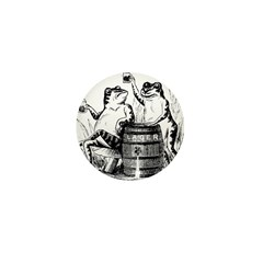 Beer Drinking Frogs Mini Button