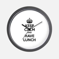Keep calm and have lunch Wall Clock