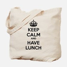 Keep calm and have lunch Tote Bag