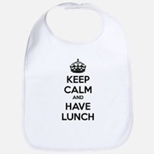 Keep calm and have lunch Bib