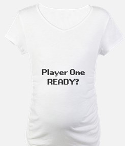 player one - ready? maternity t-shirt