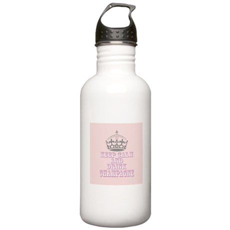 Keep Calm- Drink Champagne Water Bottle