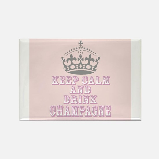 Keep Calm- Drink Champagne Rectangle Magnet