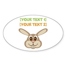 PERSONALIZE Easter Bunny Sticker (Oval)