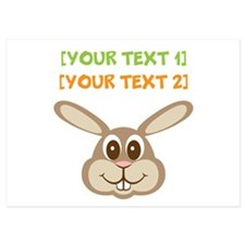 PERSONALIZE Easter Bunny Invitations