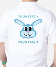 PERSONALIZE Blue Bunny T-Shirt