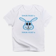 PERSONALIZE Blue Bunny Infant T-Shirt