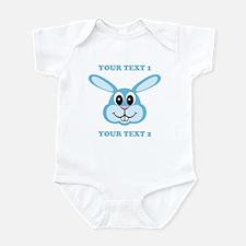 PERSONALIZE Blue Bunny Infant Bodysuit