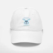 PERSONALIZE Blue Bunny Baseball Baseball Cap