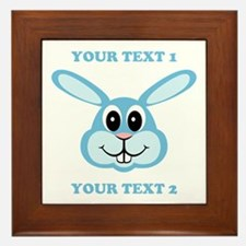 PERSONALIZE Blue Bunny Framed Tile