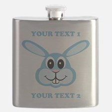 PERSONALIZE Blue Bunny Flask