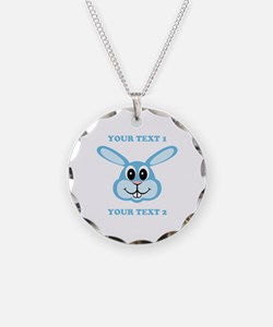 PERSONALIZE Blue Bunny Necklace