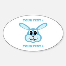 PERSONALIZE Blue Bunny Decal