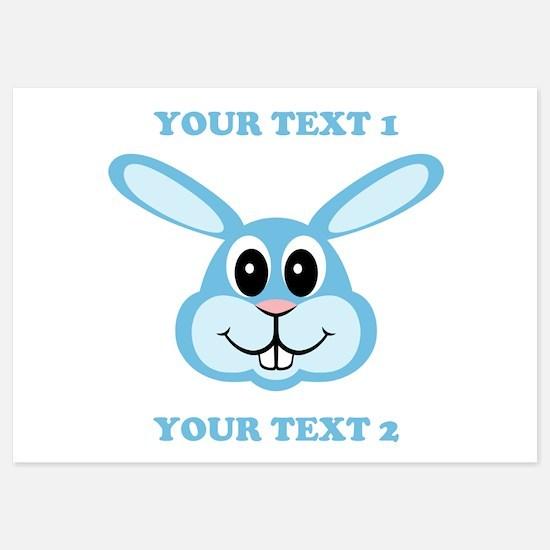 PERSONALIZE Blue Bunny Invitations