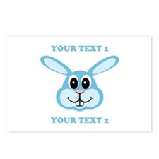 PERSONALIZE Blue Bunny Postcards (Package of 8)